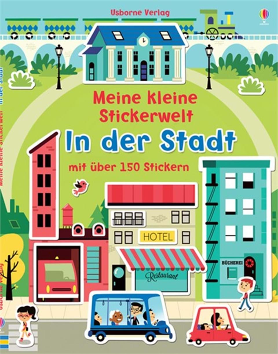 meine kleine stickerwelt in der stadt kinderb cher von usborne. Black Bedroom Furniture Sets. Home Design Ideas