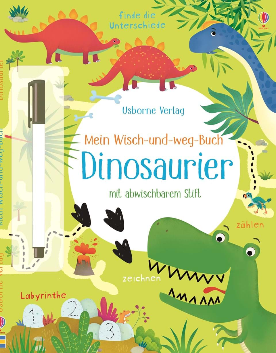 mein wisch und weg buch dinosaurier kinderb cher von usborne. Black Bedroom Furniture Sets. Home Design Ideas
