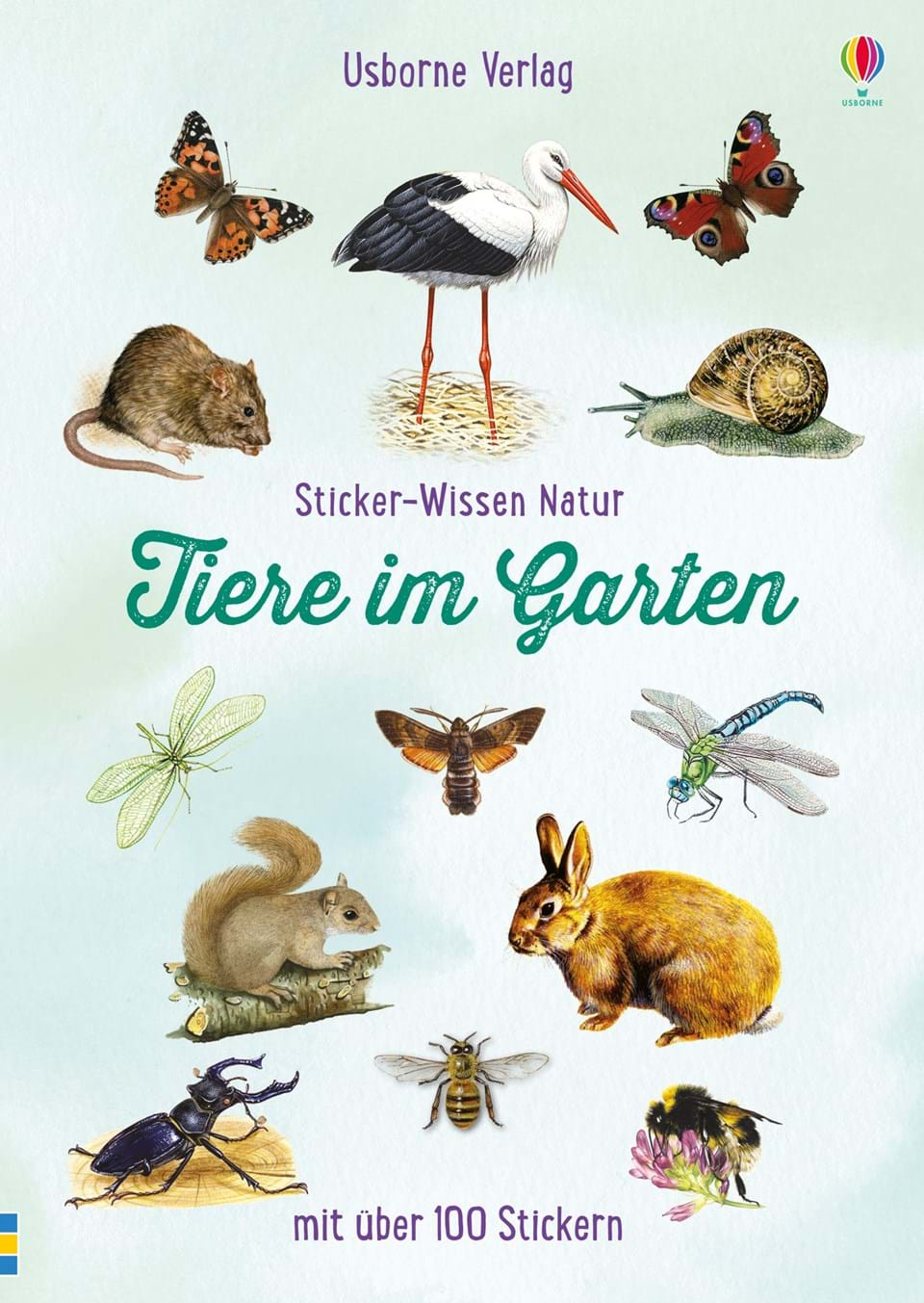 sticker wissen natur tiere im garten kinderb cher von usborne. Black Bedroom Furniture Sets. Home Design Ideas