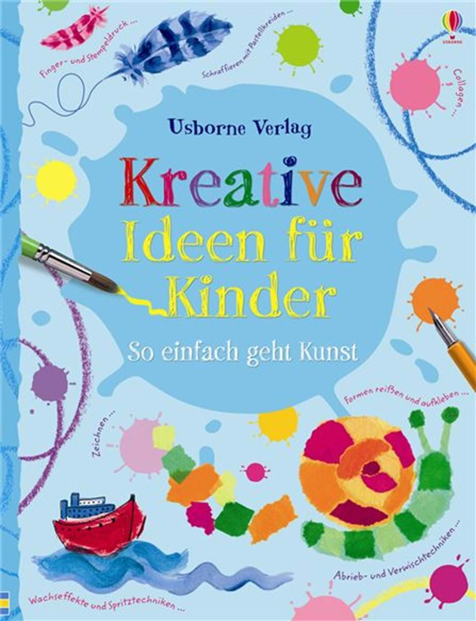 kreative ideen f r kinder so einfach geht kunst kinderb cher von usborne. Black Bedroom Furniture Sets. Home Design Ideas