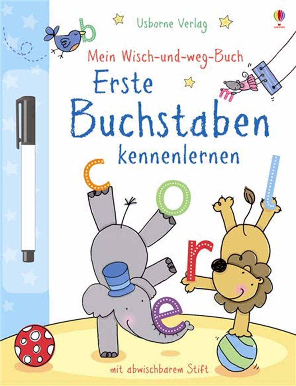 mein wisch und weg buch erste buchstaben kennenlernen kinderb cher von usborne. Black Bedroom Furniture Sets. Home Design Ideas