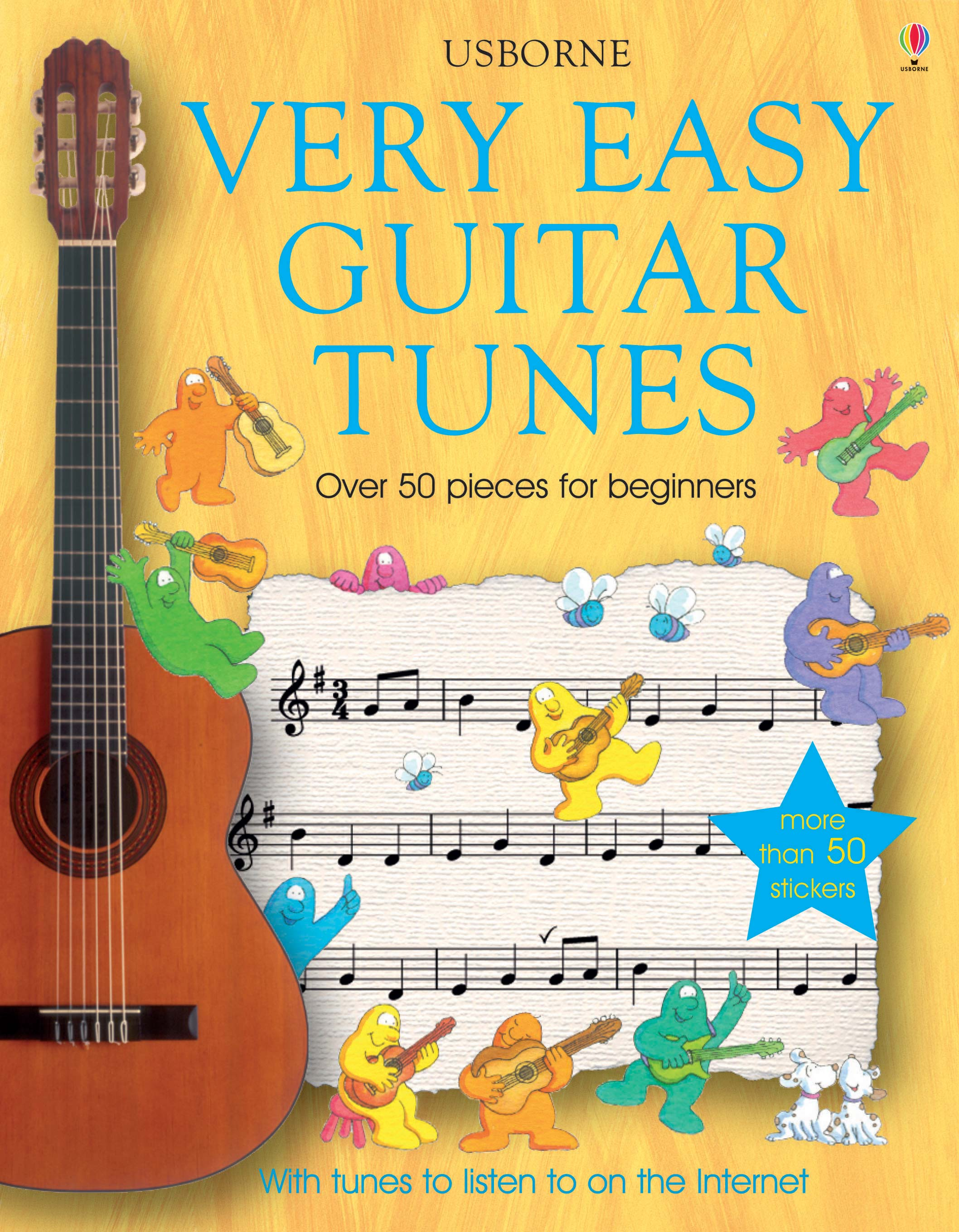 "Simple Book Cover Guitar ~ ""very easy guitar tunes at usborne books home"