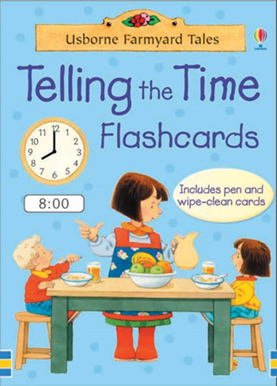 worksheet Telling Time Flashcards farmyard tales telling the time at usborne books home flashcards