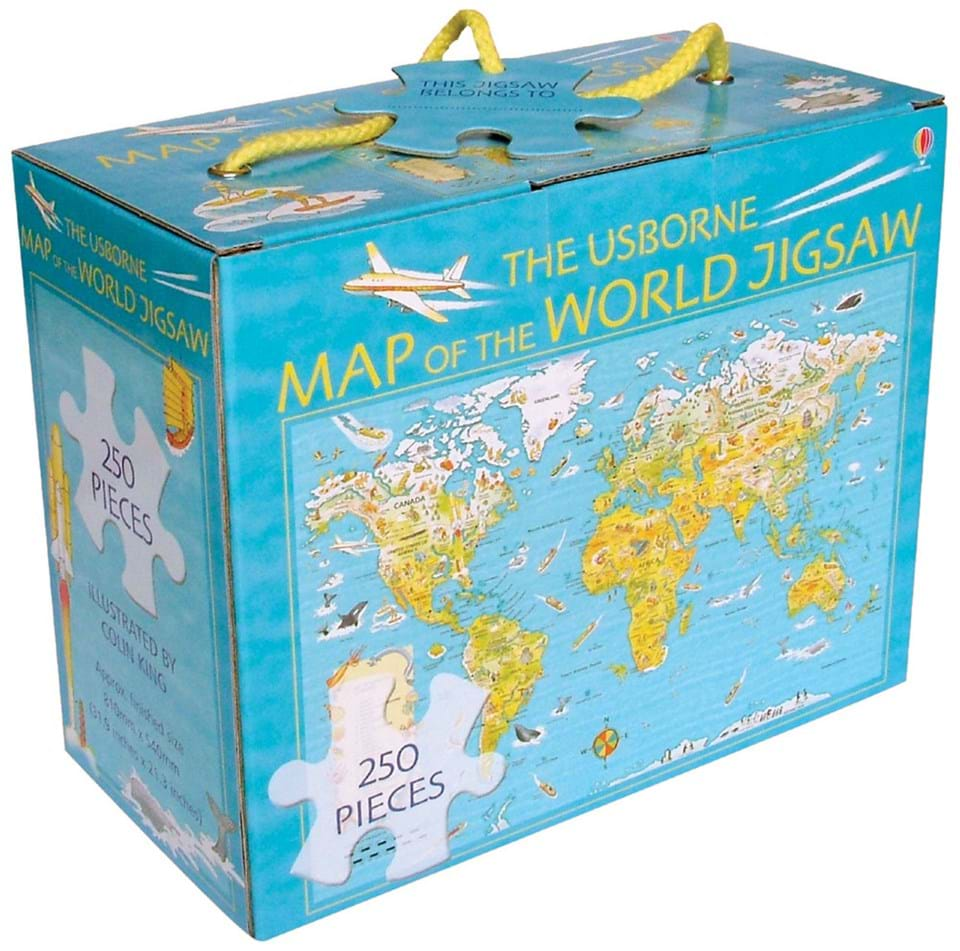 Map of the world jigsaw at usborne books at home organisers map of the world jigsaw gumiabroncs Choice Image
