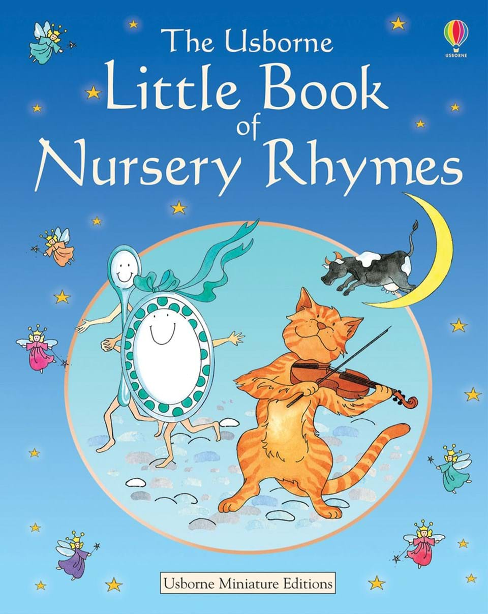 "Book Cover Nursery Art : ""little book of nursery rhymes at usborne children s books"