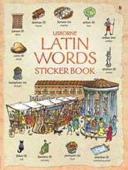 Latin words sticker book