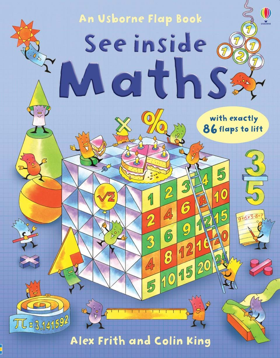 "Kids Maths Book Cover : ""see inside maths at usborne children s books"