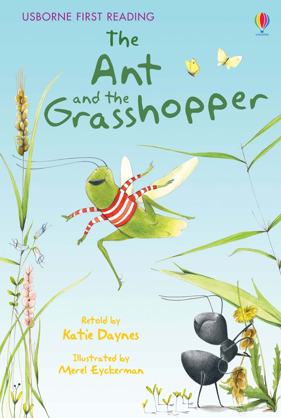 It's just a graphic of Crazy The Ant and the Grasshopper Story Printable