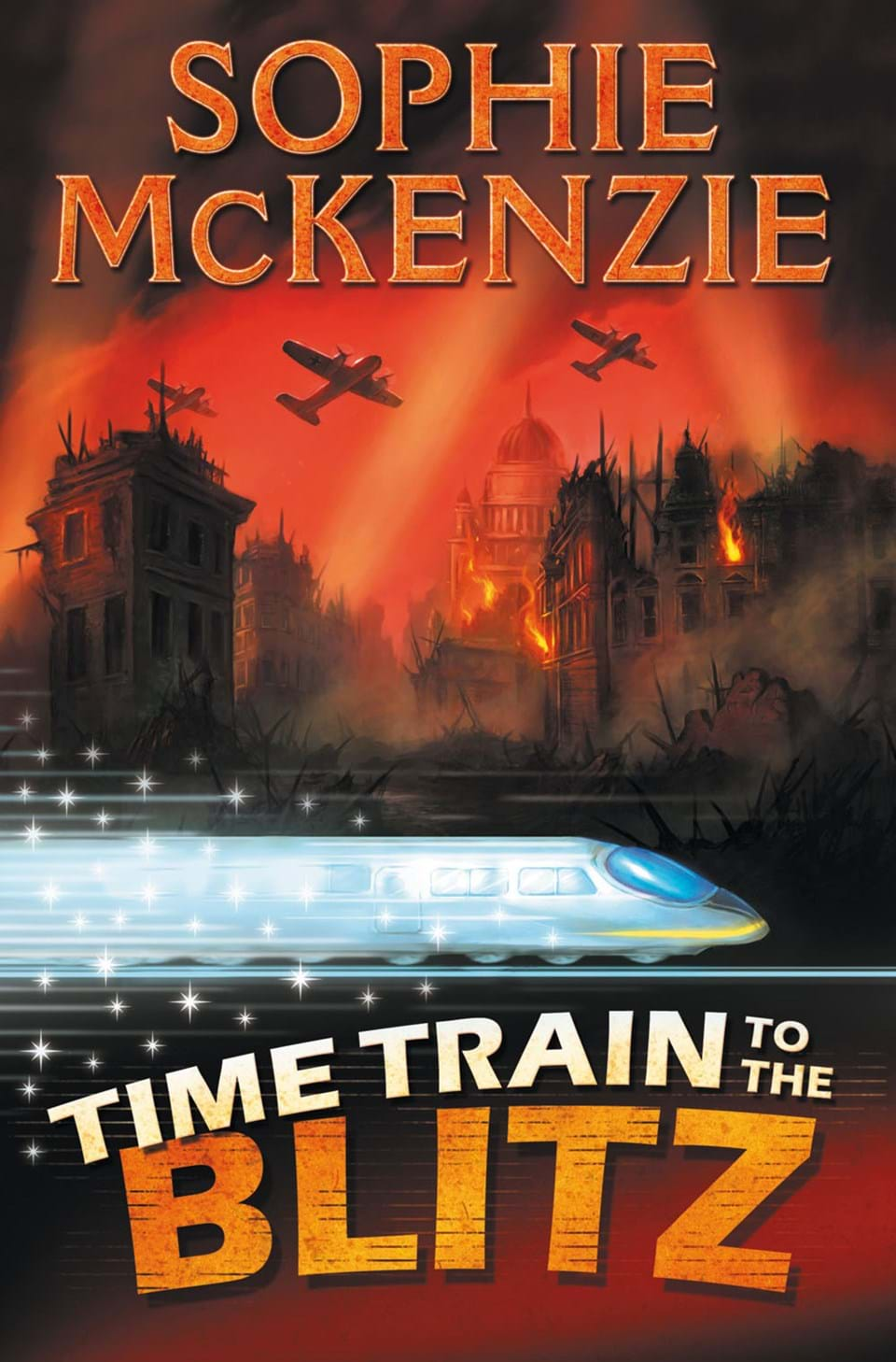 "Fluorescent Light Covers >> ""Time Train to The Blitz"" at Usborne Children's Books"