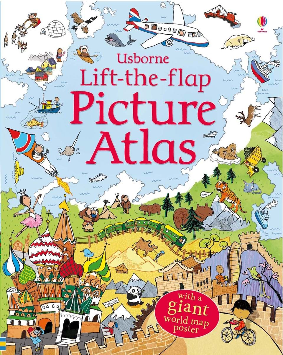 Lift the flap picture atlas at usborne books at home lift the flap picture atlas gumiabroncs Image collections