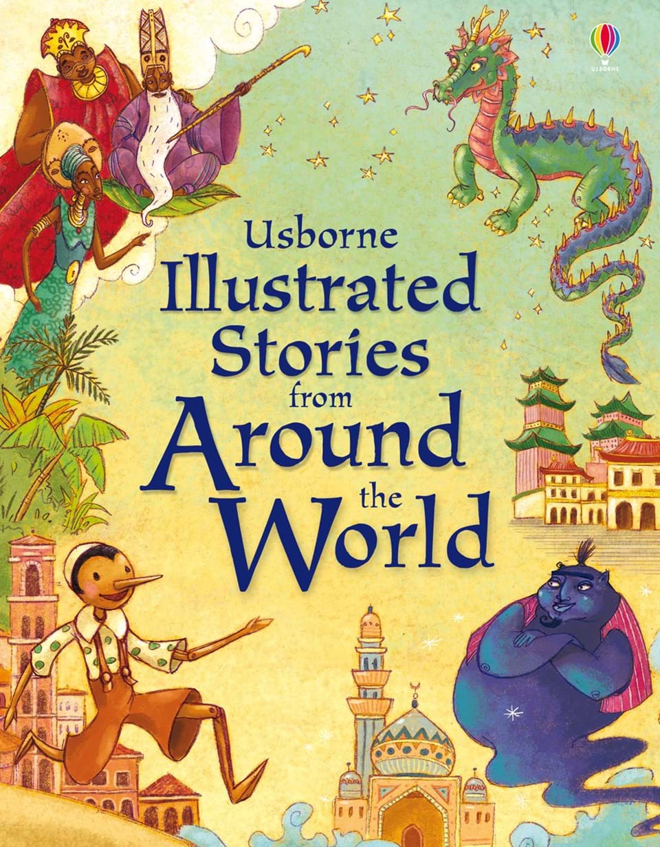 "Illustrated Book Cover ~ ""illustrated stories from around the world at usborne"