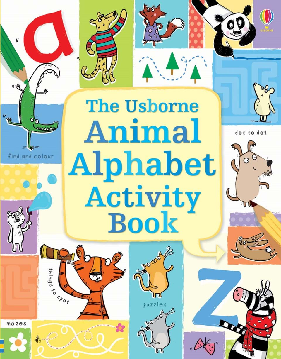 "Children S Book Cover Letter : ""animal alphabet activity book at usborne books home"