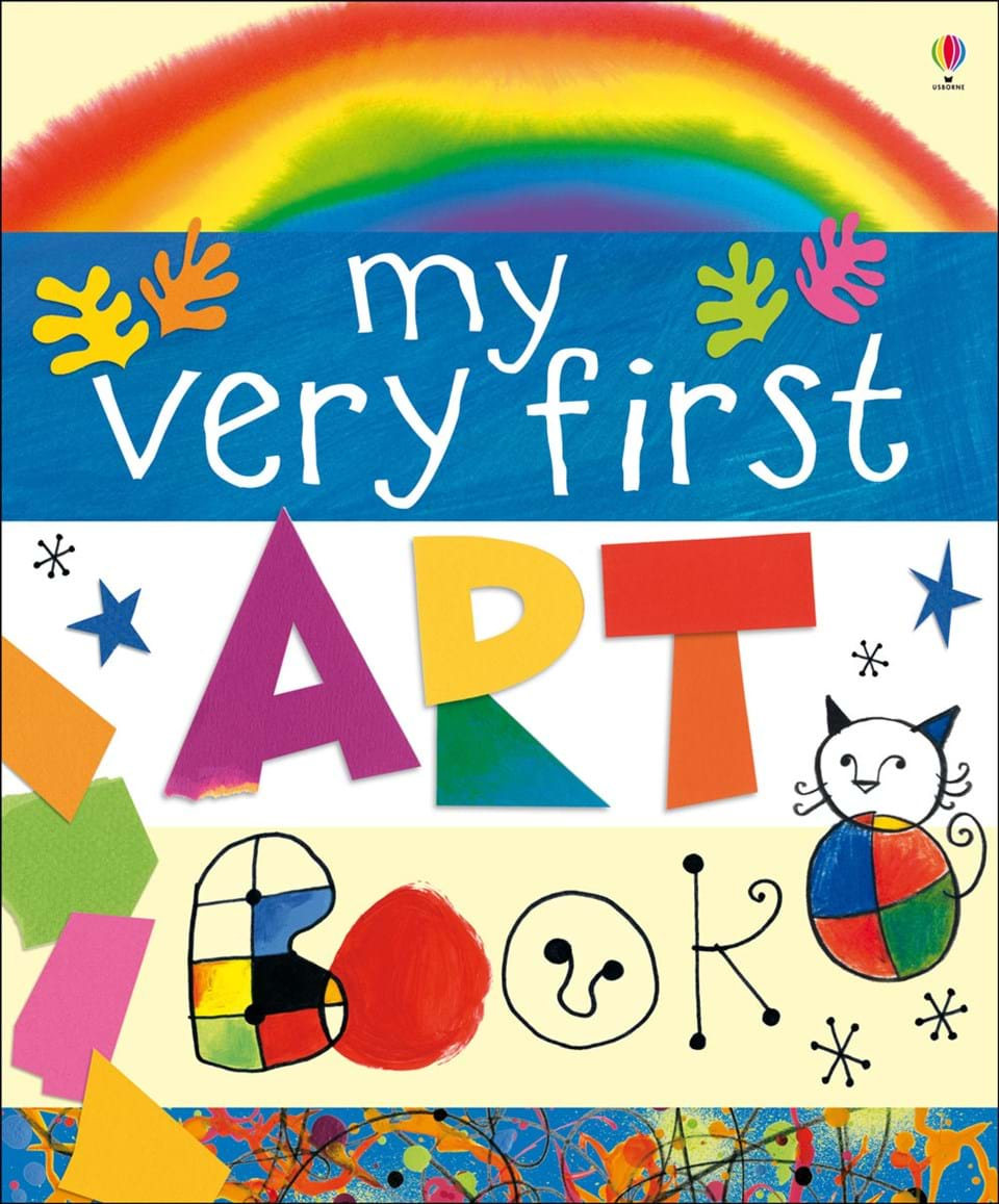 "My Art Book Cover ~ ""my very first art book at usborne books home"
