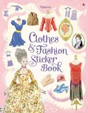 Clothes and fashion sticker book