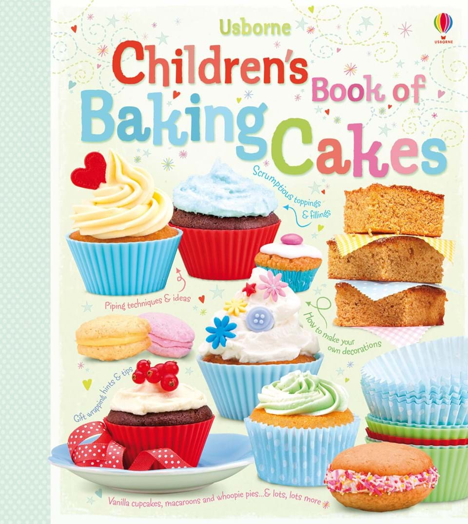 """Kids Cookbook Cover : """"children s book of baking cakes at usborne books home"""