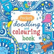 Pocket doodling and colouring book: Blue
