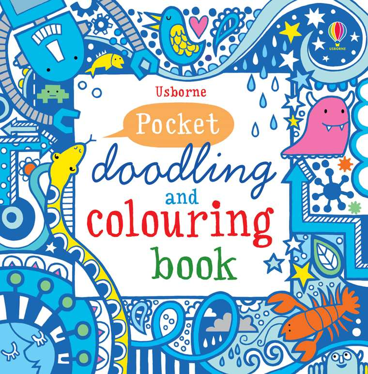 "Pocket doodling and colouring book: Blue"" at Usborne Children\'s Books"