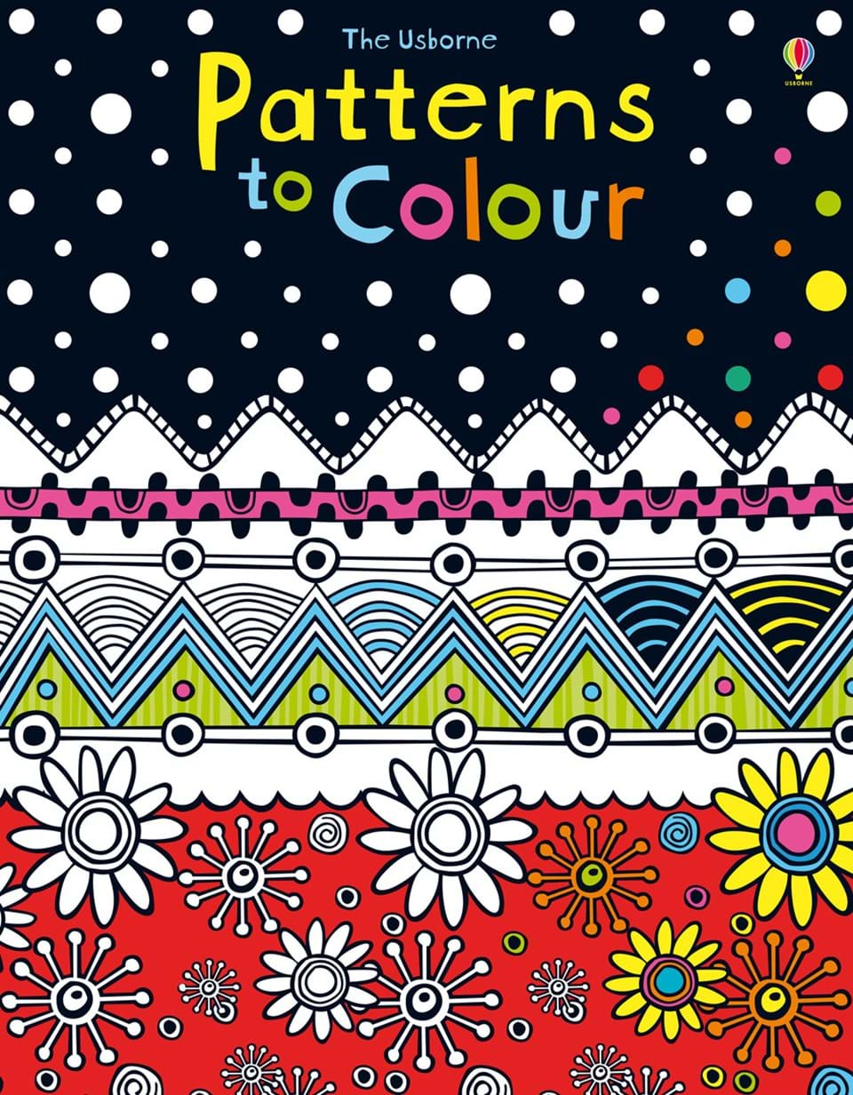 """Book Cover Pattern Uk : """"patterns to colour at usborne books home organisers"""