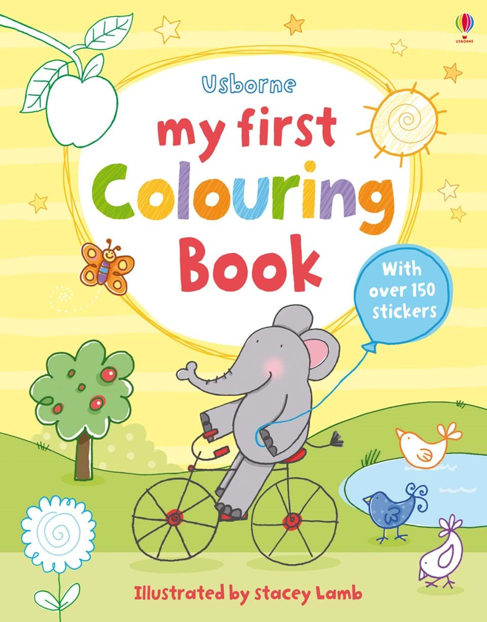 Coloring Book Cover : ?My first colouring book? at Usborne Children s Books