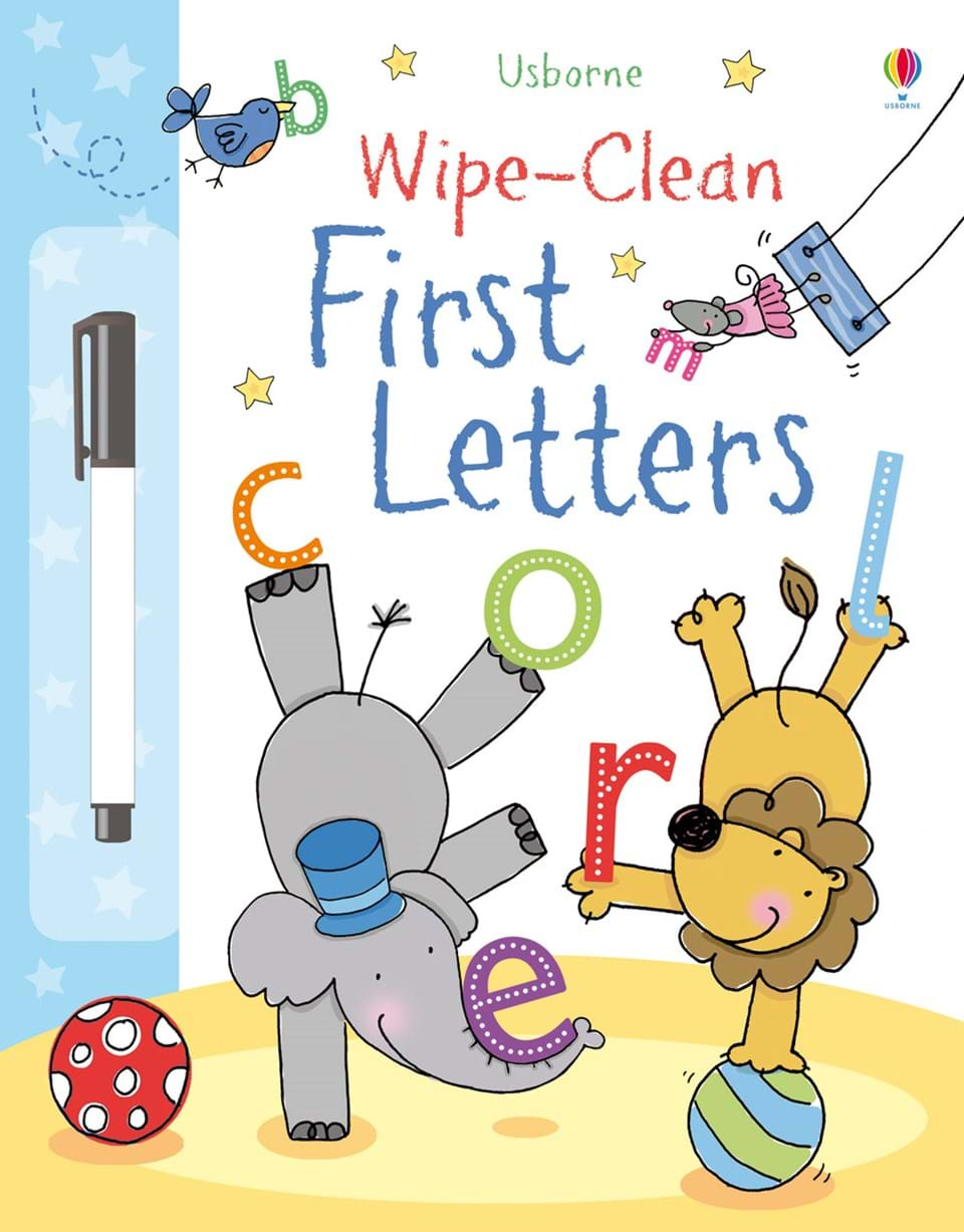 "Children S Book Cover Letter ~ ""wipe clean first letters at usborne children s books"