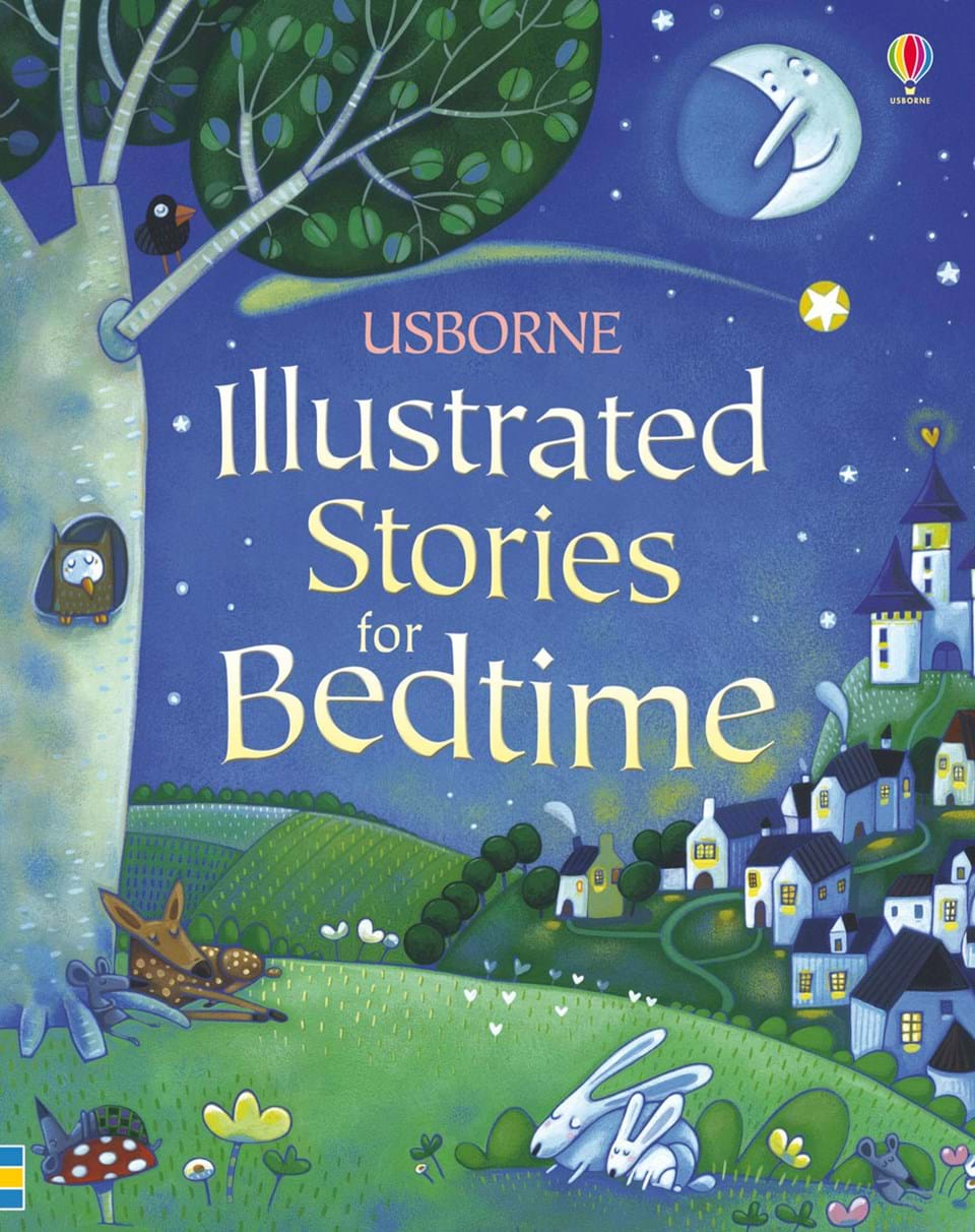 "Illustrated Book Cover Questions : ""illustrated stories for bedtime at usborne children s books"