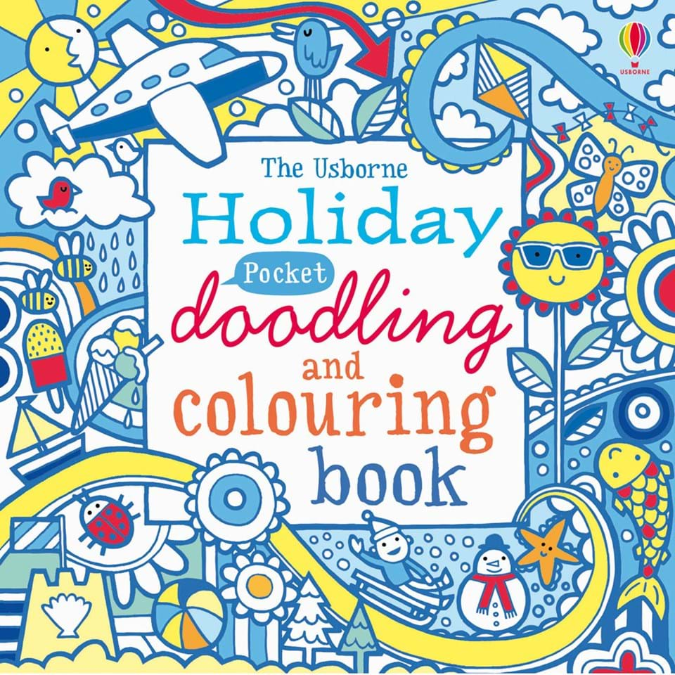 "Holiday pocket doodling and colouring book"" at Usborne Children\'s Books"