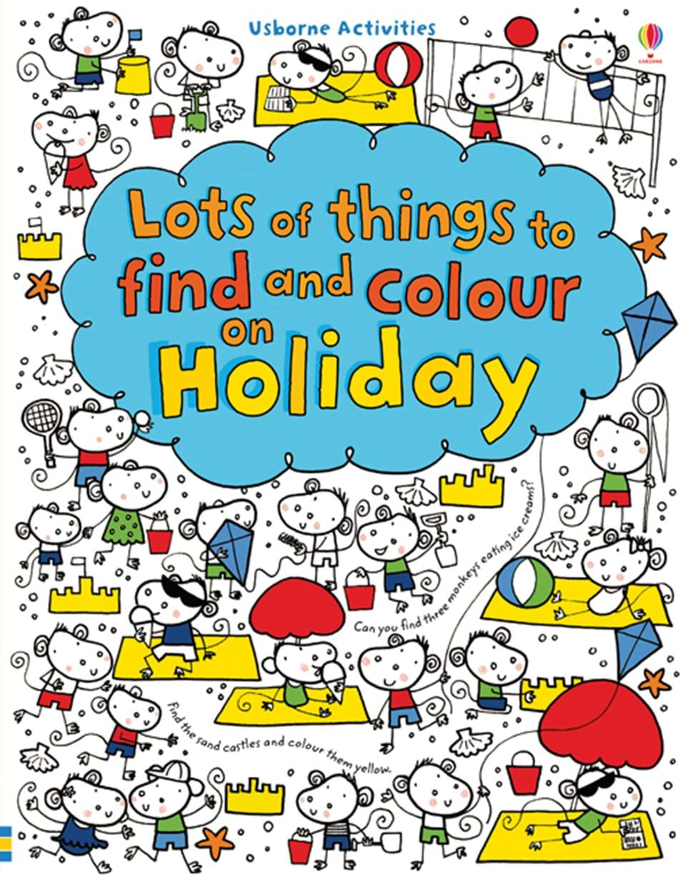 lots of things to find and colour on holiday - Things To Colour In