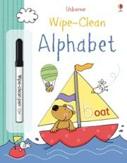 Wipe-clean alphabet