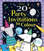 20 party invitations to colour