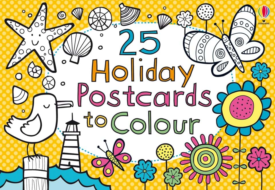 25 holiday postcards to colour - Holiday Pictures To Colour