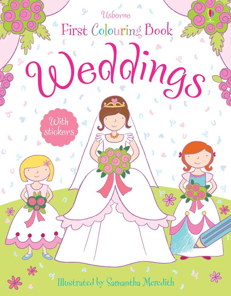 "Weddings colouring book"" at Usborne Children\'s Books"