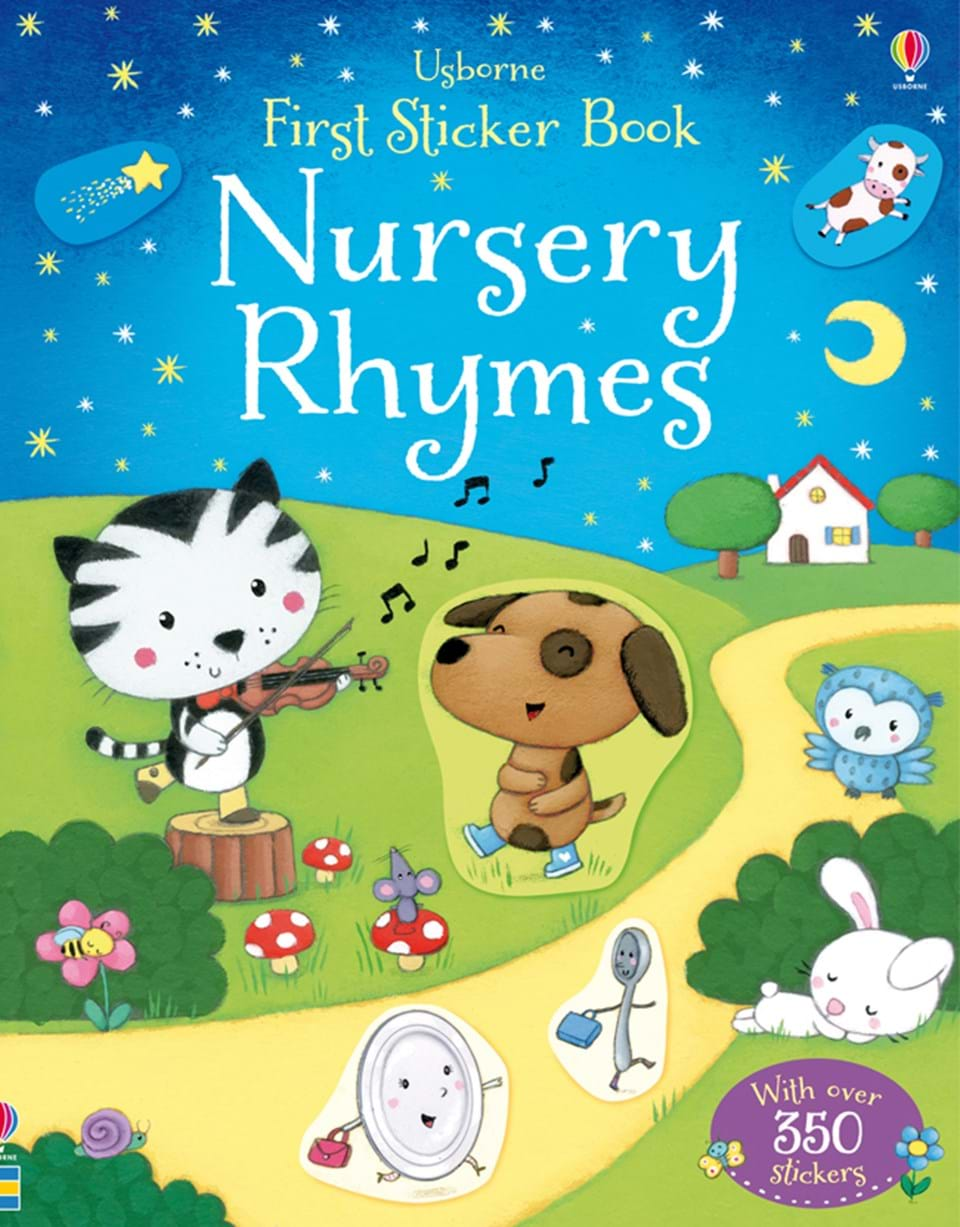 "Book Cover Nursery Art : ""nursery rhymes at usborne books home"