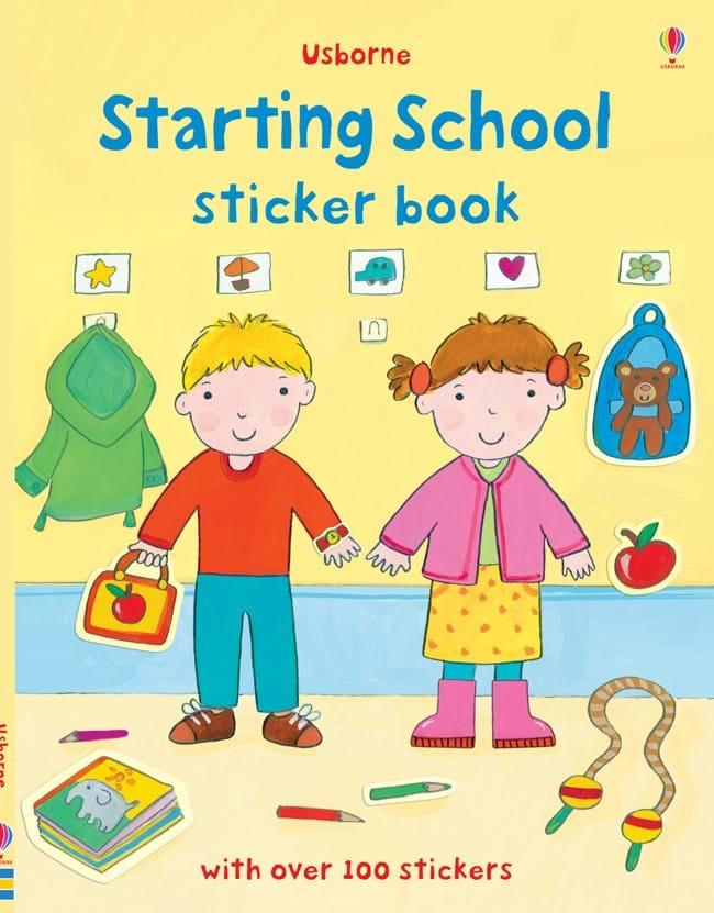 "School Book Cover Stickers : ""starting school sticker book at usborne children s books"