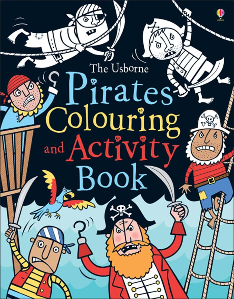 """Pirates colouring and activity book"""" at Usborne Books at Home"""