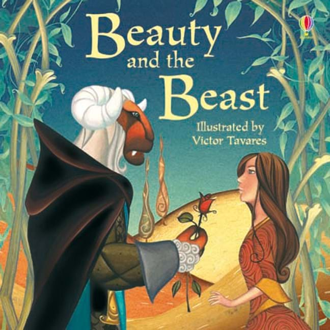 beauty   beast  usborne childrens books