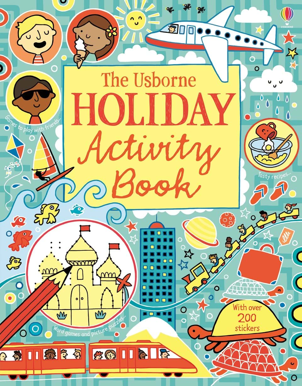 """Book Cover Art Activity ~ """"holiday activity book at usborne children s books"""