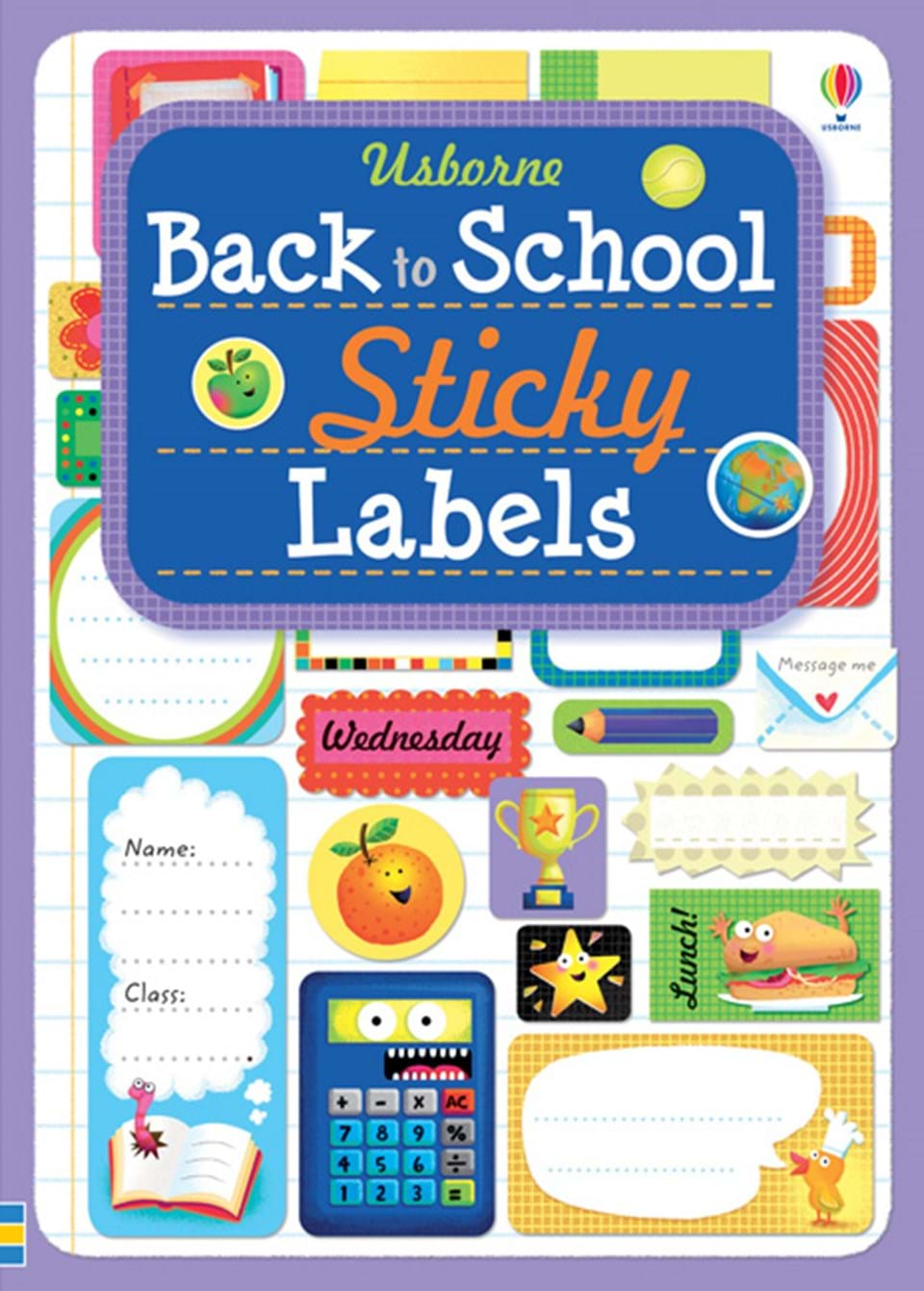 "School Book Cover Stickers : ""back to school sticky labels at usborne books home"