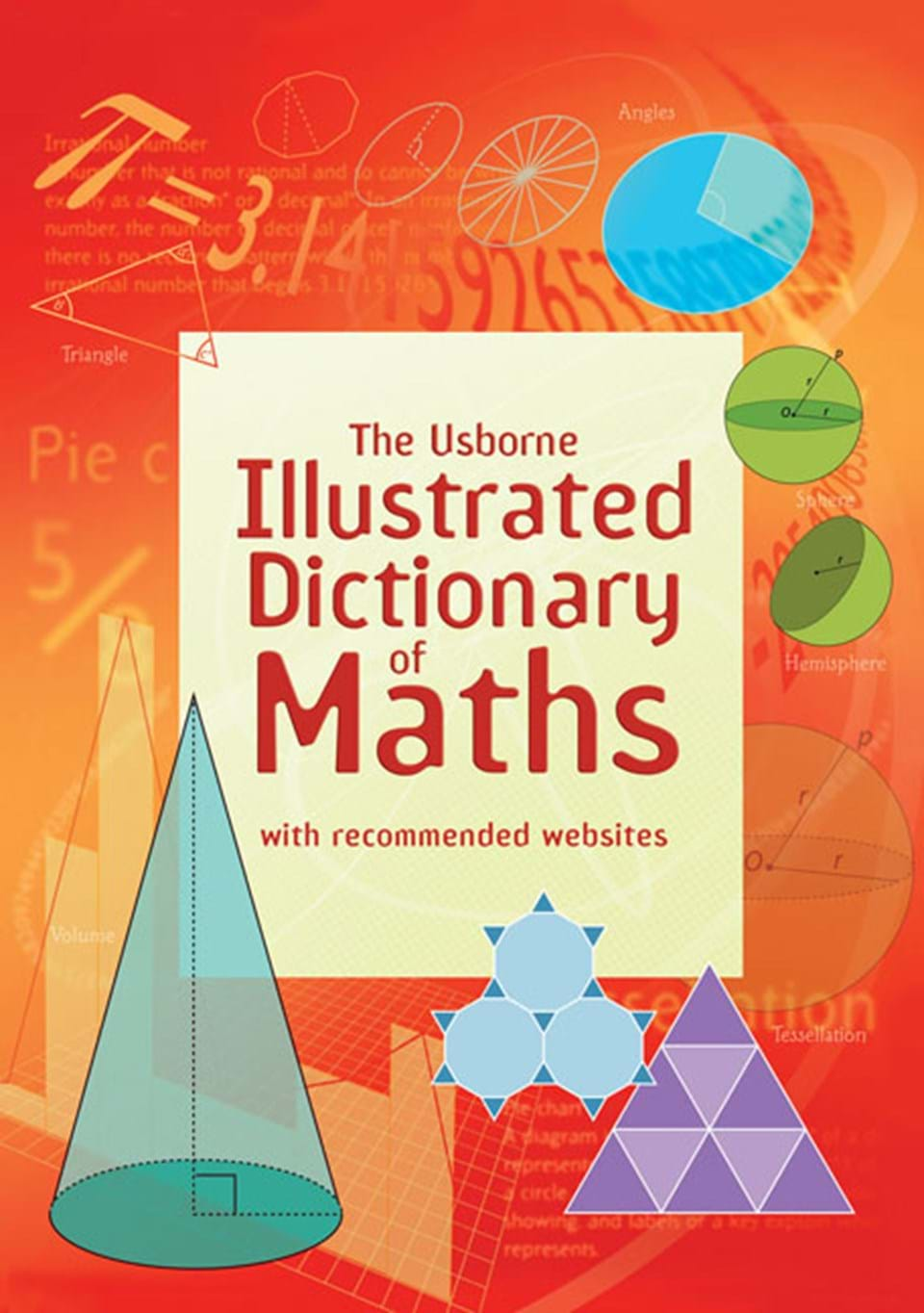 """Illustrated Book Cover Vector : """"illustrated dictionary of maths at usborne books home"""