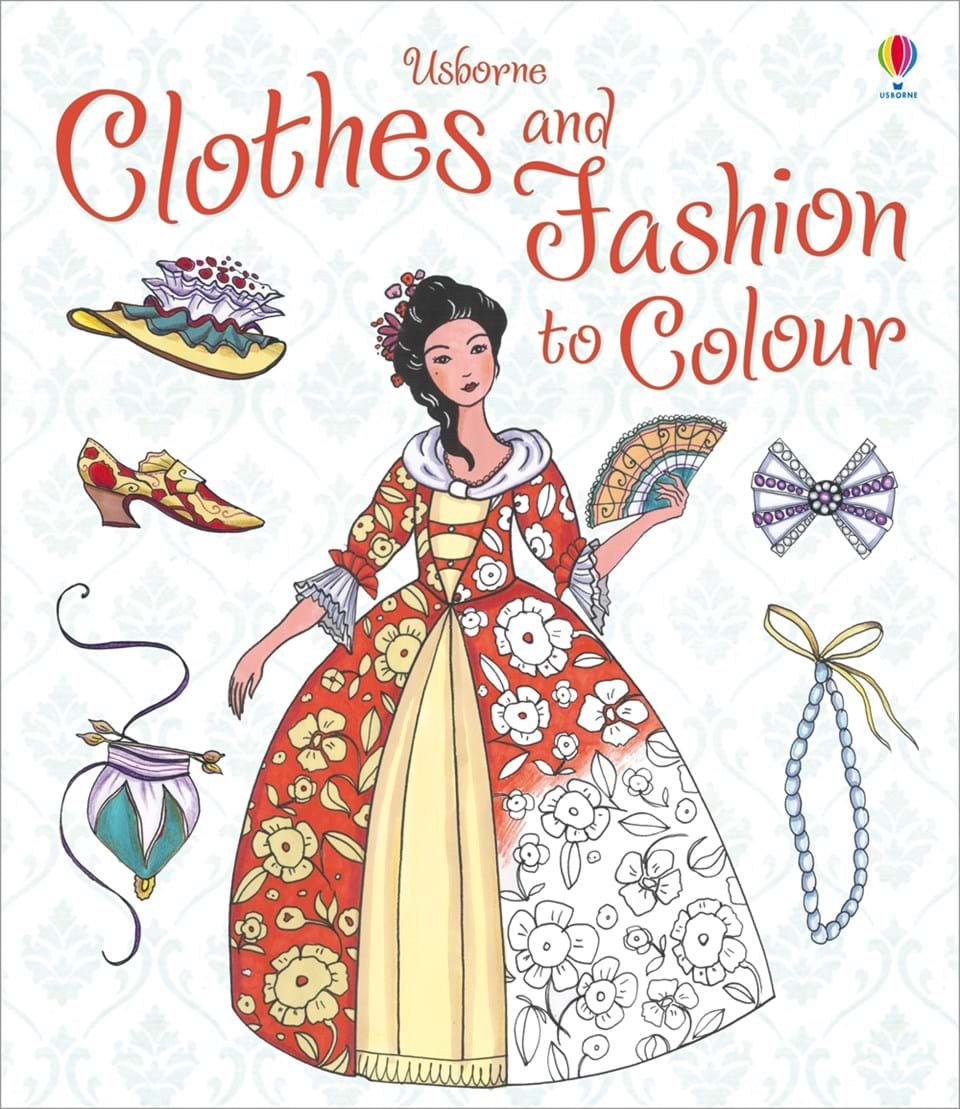 """Fashion Book Cover Uk : """"clothes and fashion to colour at usborne children s books"""