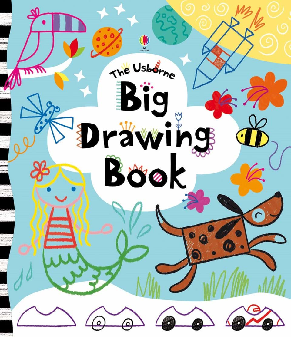"Drawing Book Cover Design For Kids ~ ""big drawing book at usborne children s books"
