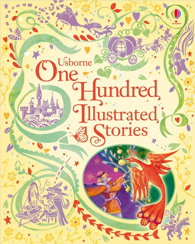 "Illustrated Book Cover Names : ""one hundred illustrated stories at usborne children s books"