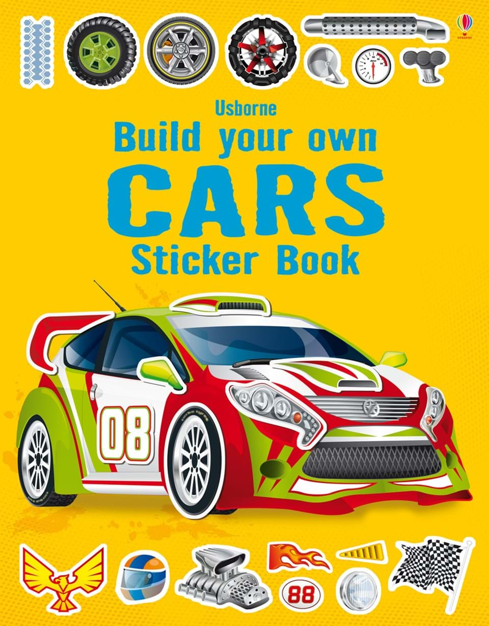 Build Your Own Cars Sticker Book At Usborne Books At Home - Make your own decal sticker for car