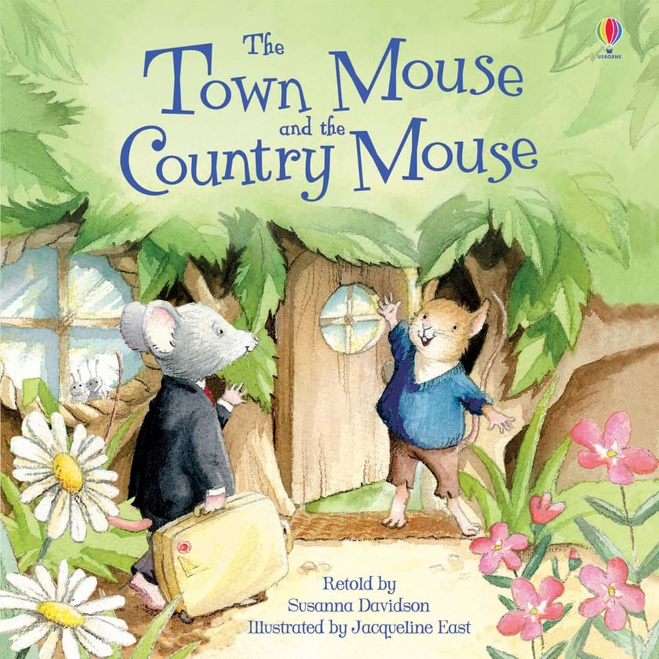 the town mouse and the country mouse at usborne children s books. Black Bedroom Furniture Sets. Home Design Ideas
