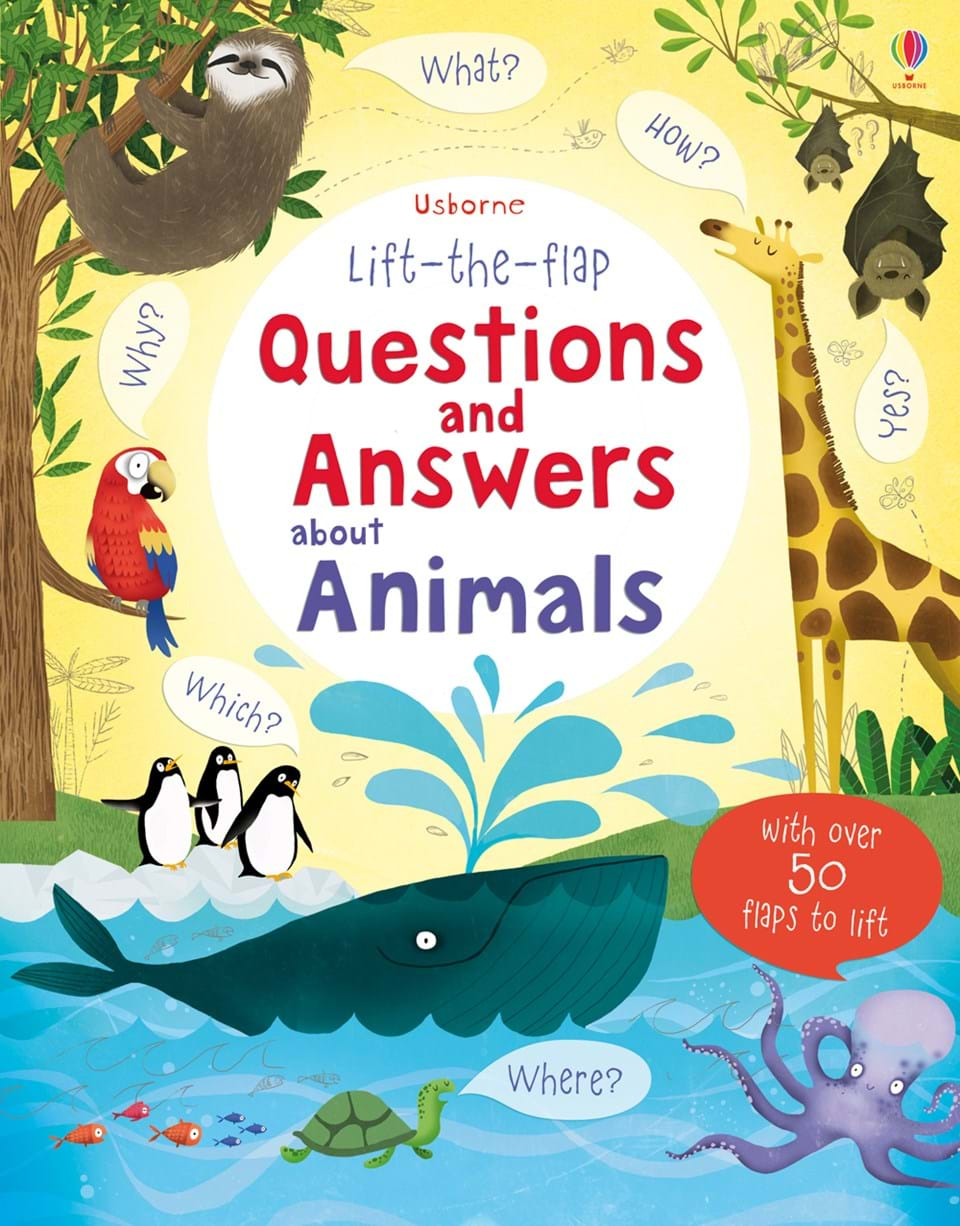 "Lift-the-flap questions and answers about animals"" at Usborne"