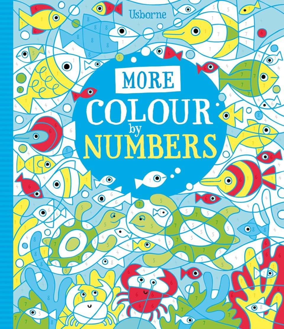 "More colour by numbers"" at Usborne Children\'s Books"