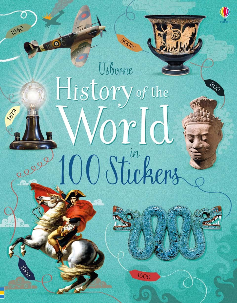 history of the world in 100 stickers at usborne children s books. Black Bedroom Furniture Sets. Home Design Ideas