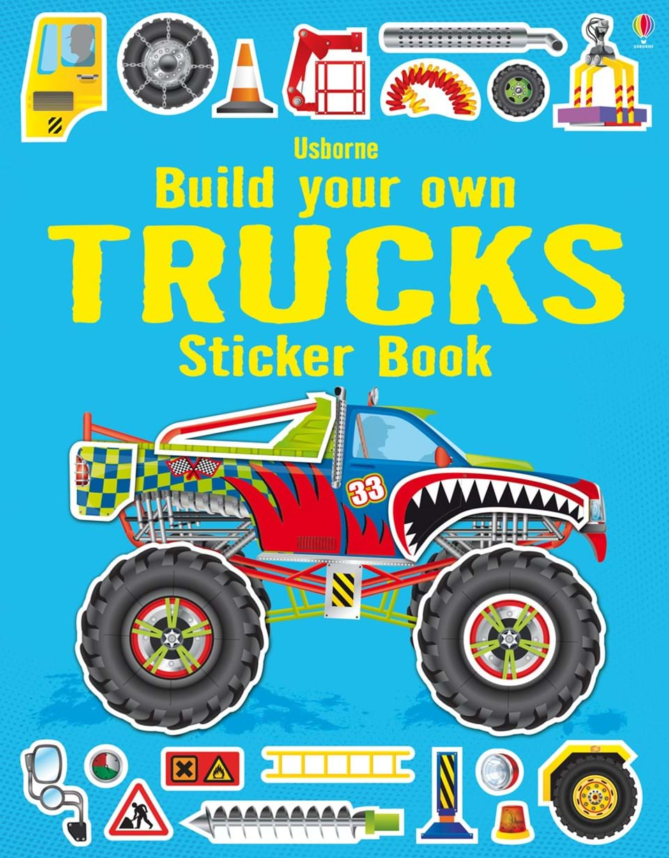 """Build your own trucks sticker book"""" at Usborne Books at Home"""