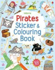 Pirates sticker and colouring book