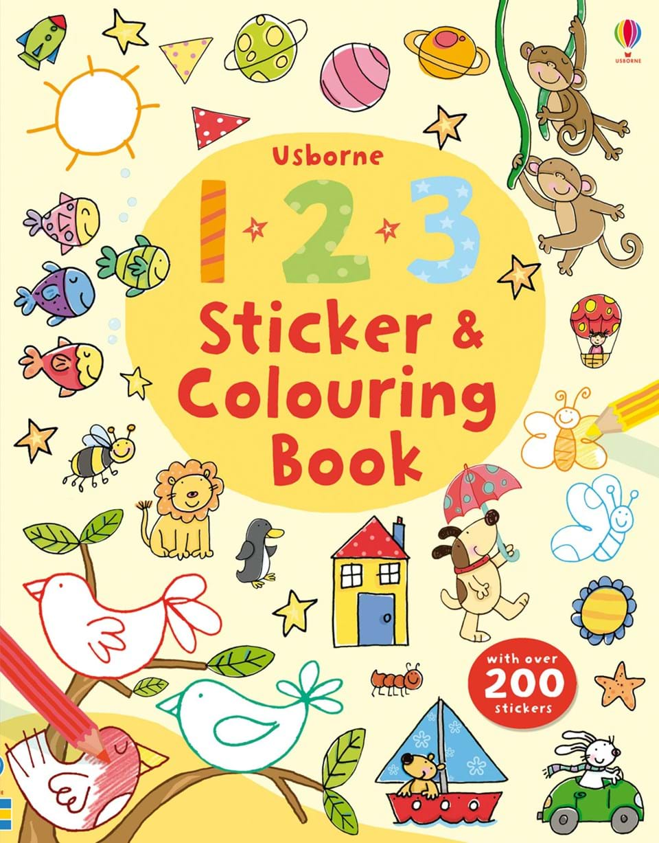 """123 sticker and colouring book"""" at Usborne Books at Home"""