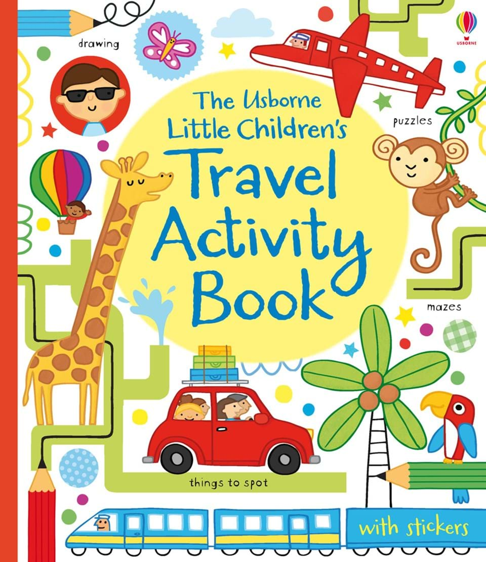 """Book Cover Typography Worksheets : """"little children s travel activity book at usborne"""
